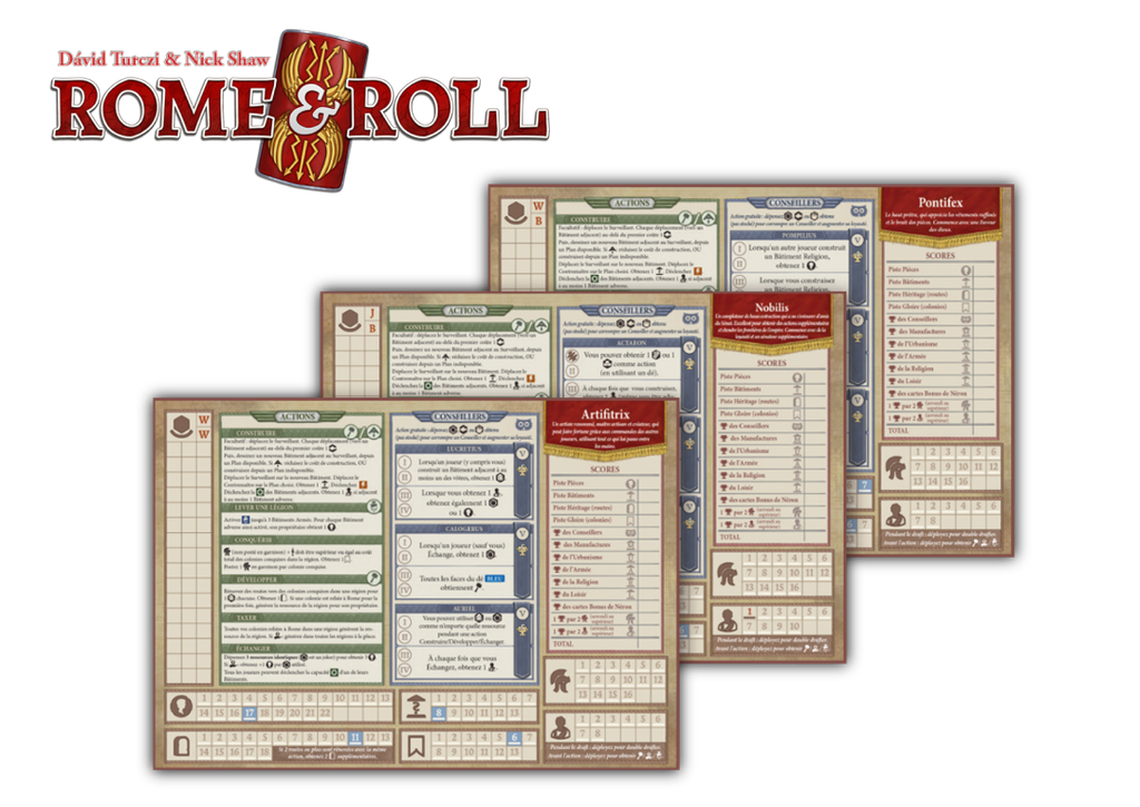 ROME & ROLL - Ext. Personnages